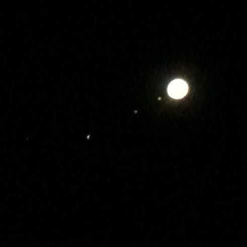 コリメート撮影による木星(iphone)