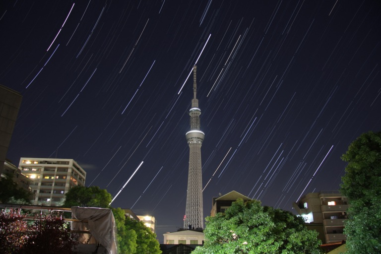 Jupiter on the tip of the Sky Tree