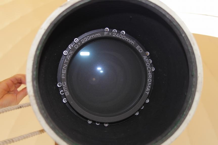 清掃前の対物レンズ