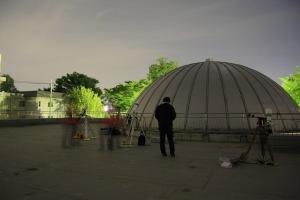 屋上にも3台の望遠鏡