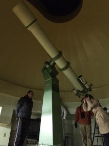天文台で彗星観望