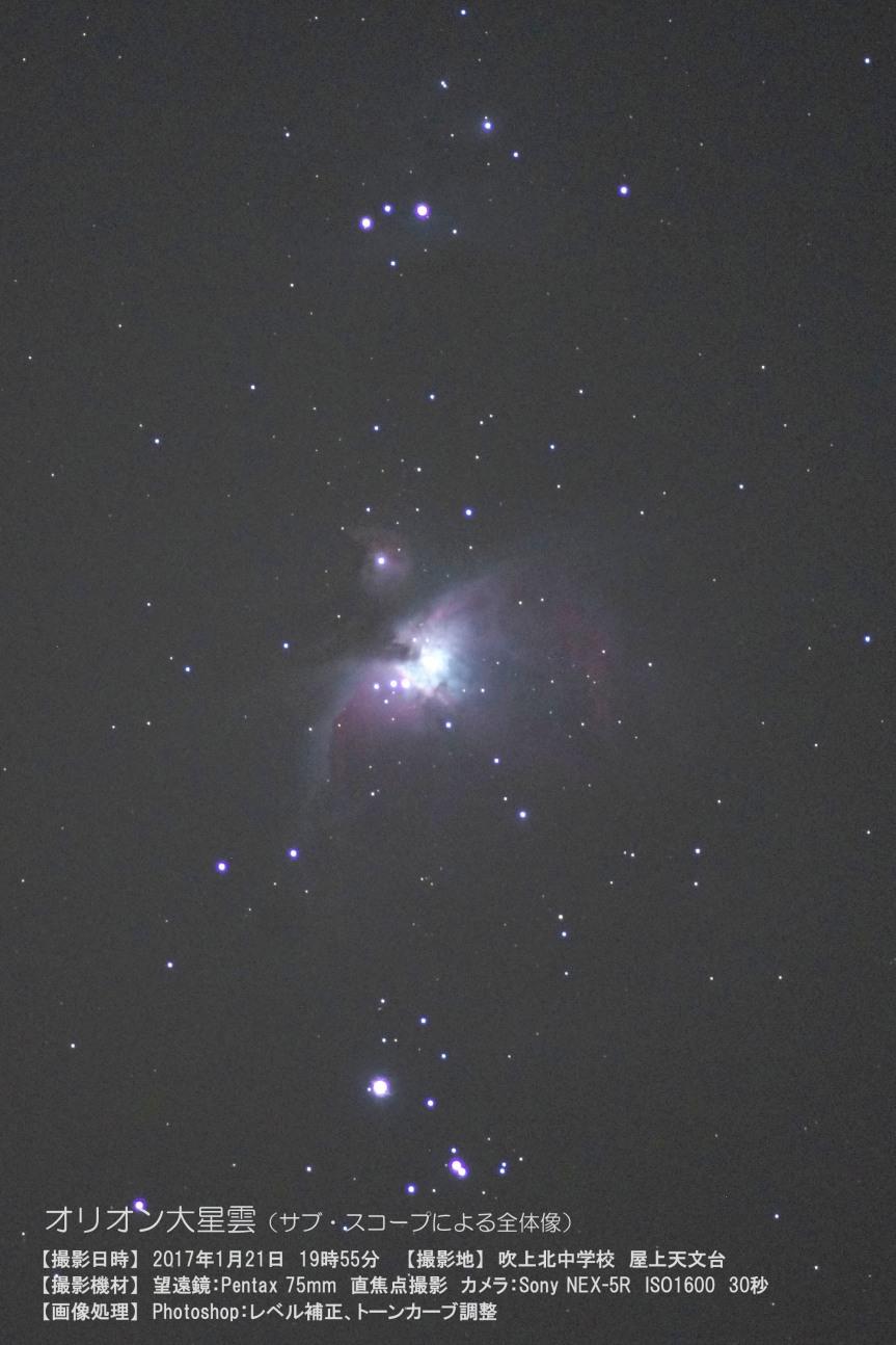 オリオン大星雲の全体像